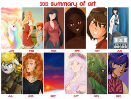 2012 Summary of Art by BellaCielo