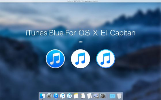 iTunes Blue For OS X El Capitan by MaxColins