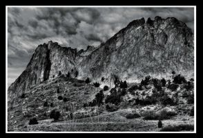Garden of the Gods BW by Bartonbo