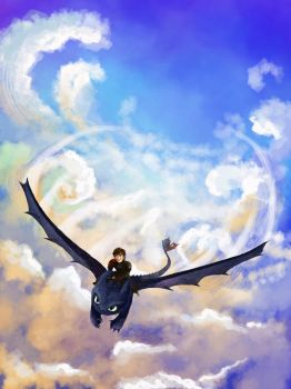 Hiccup and Toothless by Natsu-Lu