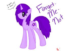 Forget- Me- Not, another OC by sketchypony123