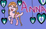 Anna as a pony by Demibowties