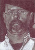 Jamie Hyneman Sketch Card by JeffLafferty