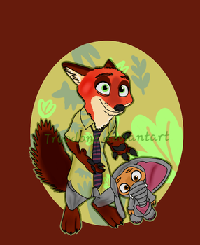 nick wilde and finnick  by troodont