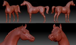 Practicing Zbrush - horse by giovannag