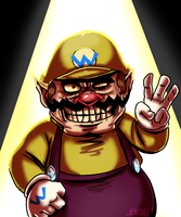 Speed Painting  Wario by leotte803