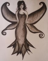 Charcoal faerie Sketch by slsovs