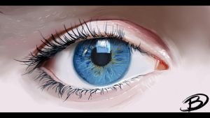Speed Painting - A girl eye by Zaziky