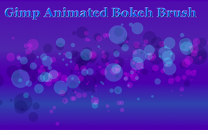 Gimp Animated Bokeh Brush by Geosammy