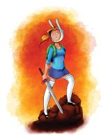 Fionna the Human by FireDestined4