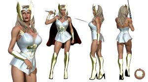 She-Ra character sheet by Uroboros-Art