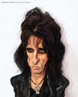 Alice Cooper caricature by jupa1128