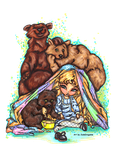 Goldilocks and the three bears by Dianabolique