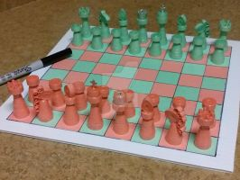 Paper Quilling Chess Pieces. by esmeraldaarribas