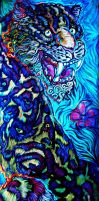Jaguar Painting Blacklight by Crowbawt