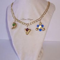 Kokiri Emerald Goron Ruby n Zora Sapphire Necklace by TorresDesigns