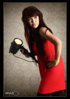 Anggi in red by dhuo