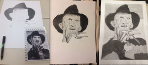 My First Drawing and Shading of Freddy Krueger by JOHNSRODRIGUEZ1997