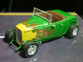1932 Ford Highboy Green Flame by SurfTiki