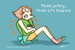 Steven Universe - Think Safety, Think Life Diapers by caycowa