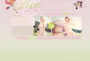 Pixie Lott Layout by lovegonewrong