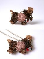 Crystal Doggie Keychain by kokito85