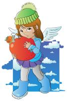 Angels like apples vector 2 by jkBunny