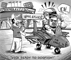 Michael Vick Eagles Confusion by heckthor