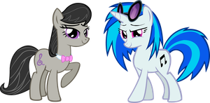 Octavia and Vinly Scratch by Vector-Brony