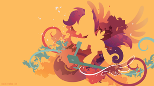Scootaloo Silhouette Wall by SambaNeko