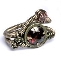 Garnet SteamPunk Ring by CatherinetteRings