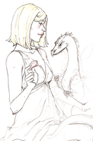 Dany and Drogon wip by hedgehog-in-snow