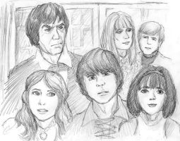 Second Doctor and companions by infiniteviking