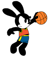 Oswald plays Basketball by ElMarcosLuckydel96