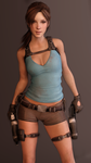 Lara Croft by dnxpunk