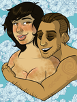 Princess Pudge and Baron von Numpty by lubyelfears