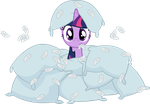 Pillow Warrior Twilight Sparkle Vector by PhilomenaThePhoenix