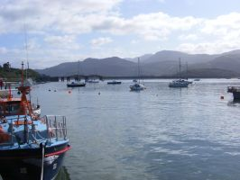 Barmouth Harbour Wales Stock by VaL-DeViAnT
