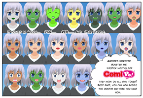 Improved Mouths for Comipo by Lady-Aurora-Moon