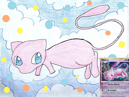 Request for Pokemonfart - Mew card drawing by xXShadow-BlizzardXx