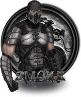 Smoke Mortal Kombat 9 by xDarkArchangel
