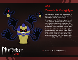 Nintober 031. Yamask and Cofagrigus by fryguy64