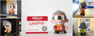 Superpouf Munny doll by TheBourgyman
