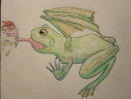 Froggie? (no background) by Spinian
