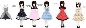 Various Lolita One-Pieces by VanityElric