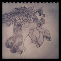 ~nameless~ pony drawing by CookieMonsta409