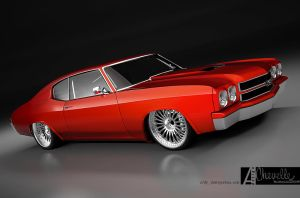 chevelle SS custom 2 by 3dmanipulasi