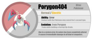 Fakemon: Porygon404 by JaviDLuffy