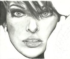 WIP3: Milla Jovovitch by portraitsRme13