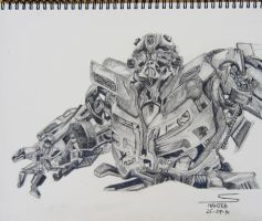 Bumblebee (Pencil Sketch) by shaixey